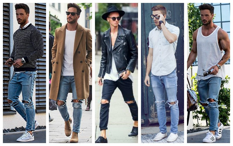 How-to-Wear-Men's-Ripped-Jeans